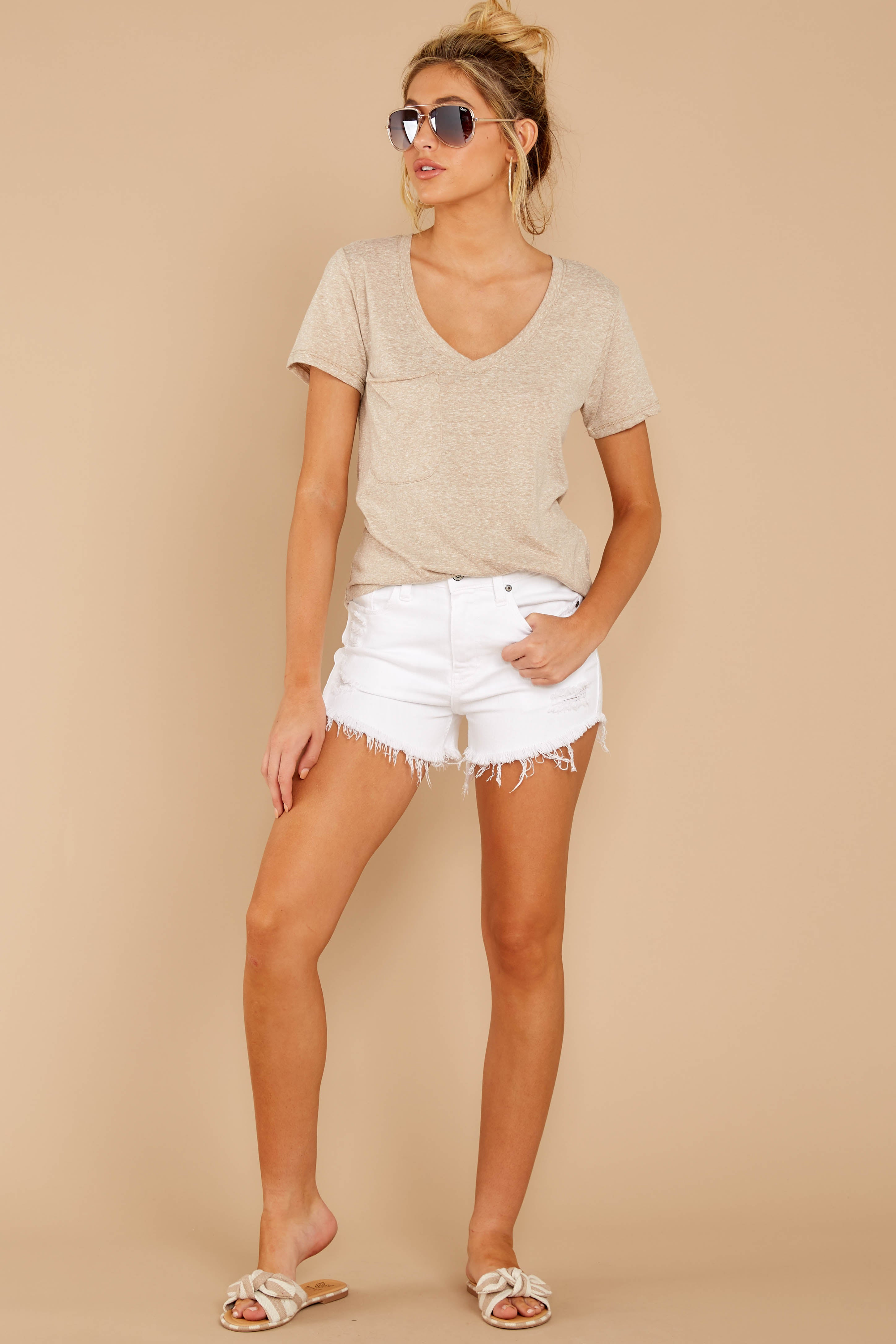 1 The Simply Taupe Triblend Pocket Tee at reddressboutique.com