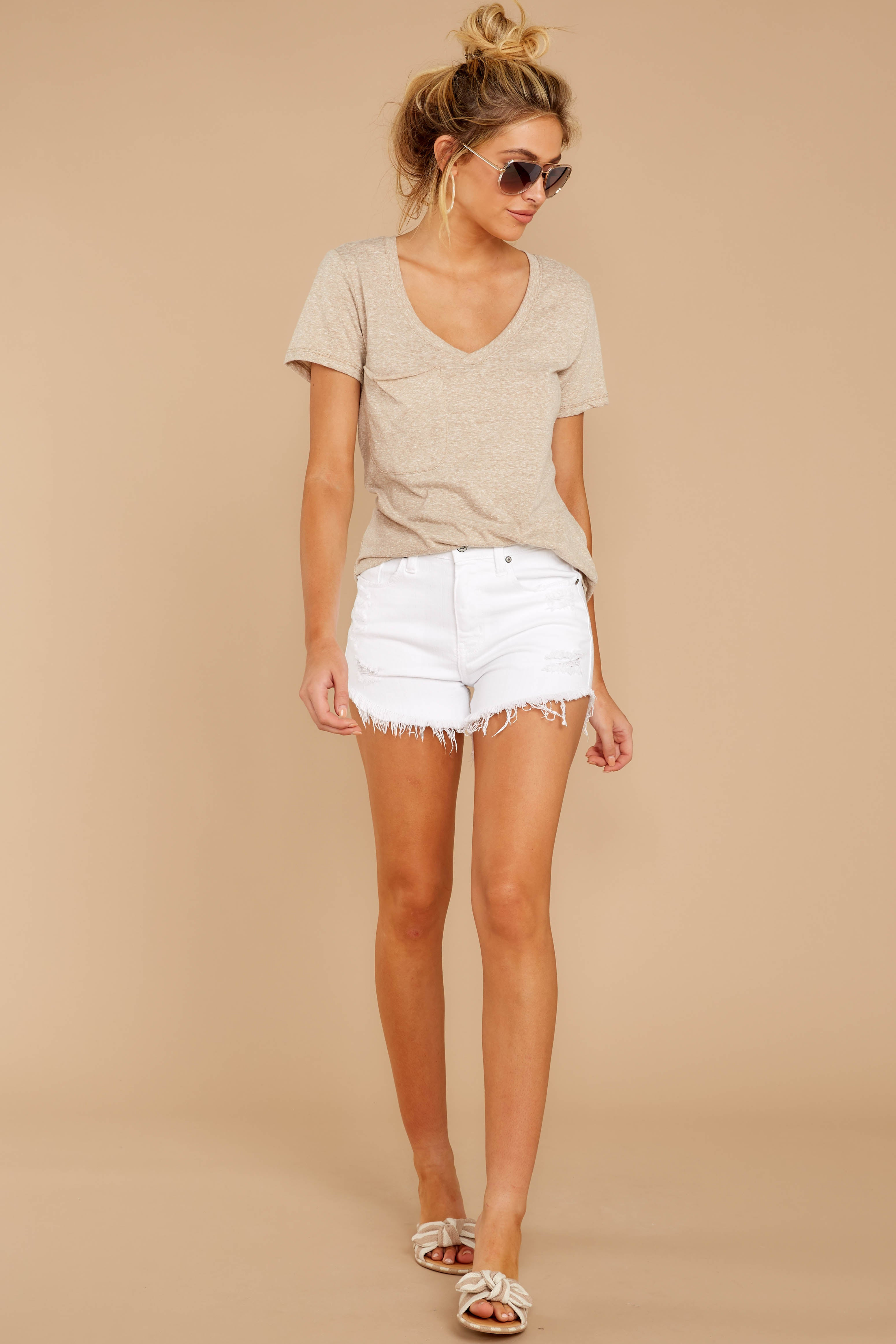 2 The Simply Taupe Triblend Pocket Tee at reddressboutique.com