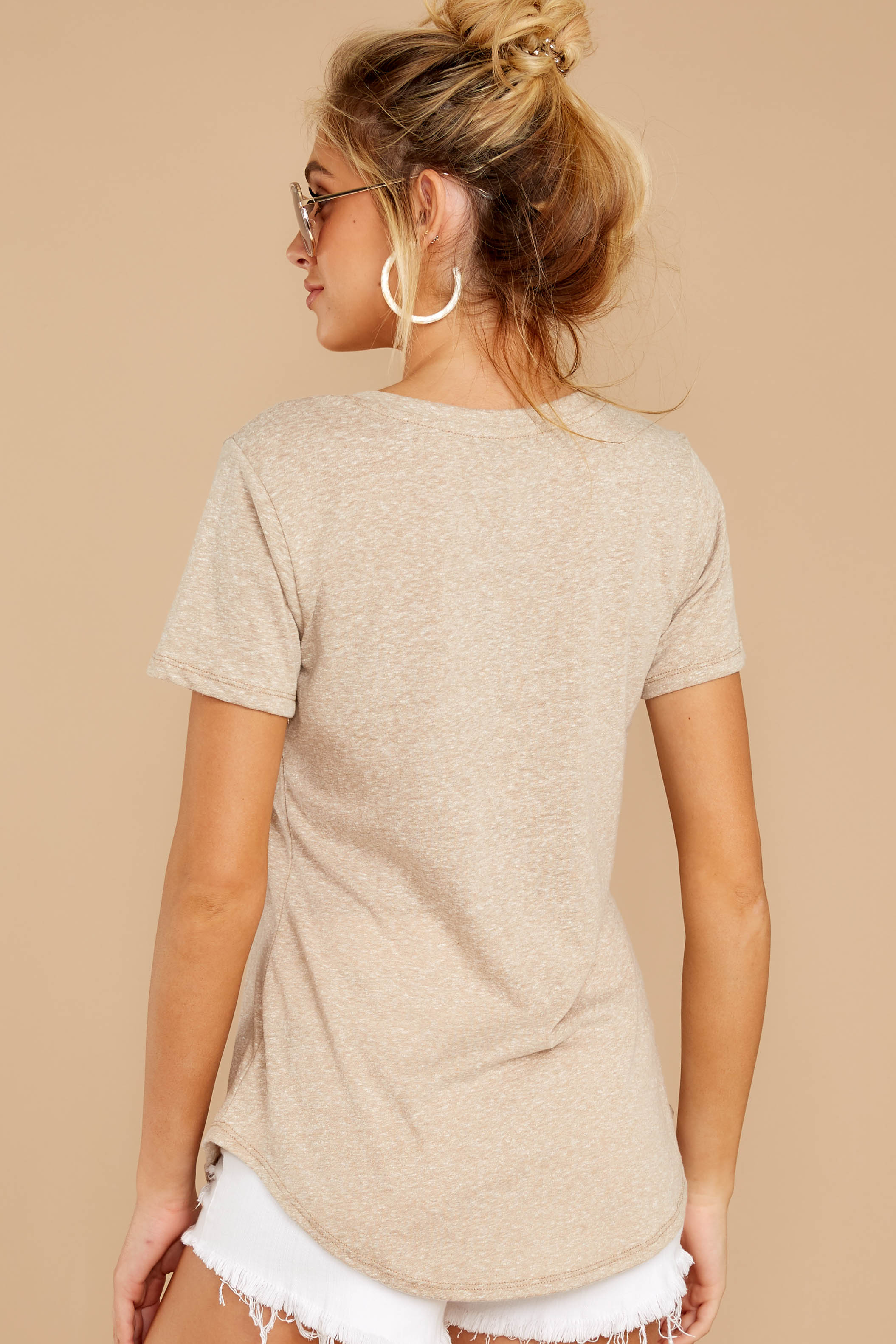 7 The Simply Taupe Triblend Pocket Tee at reddressboutique.com
