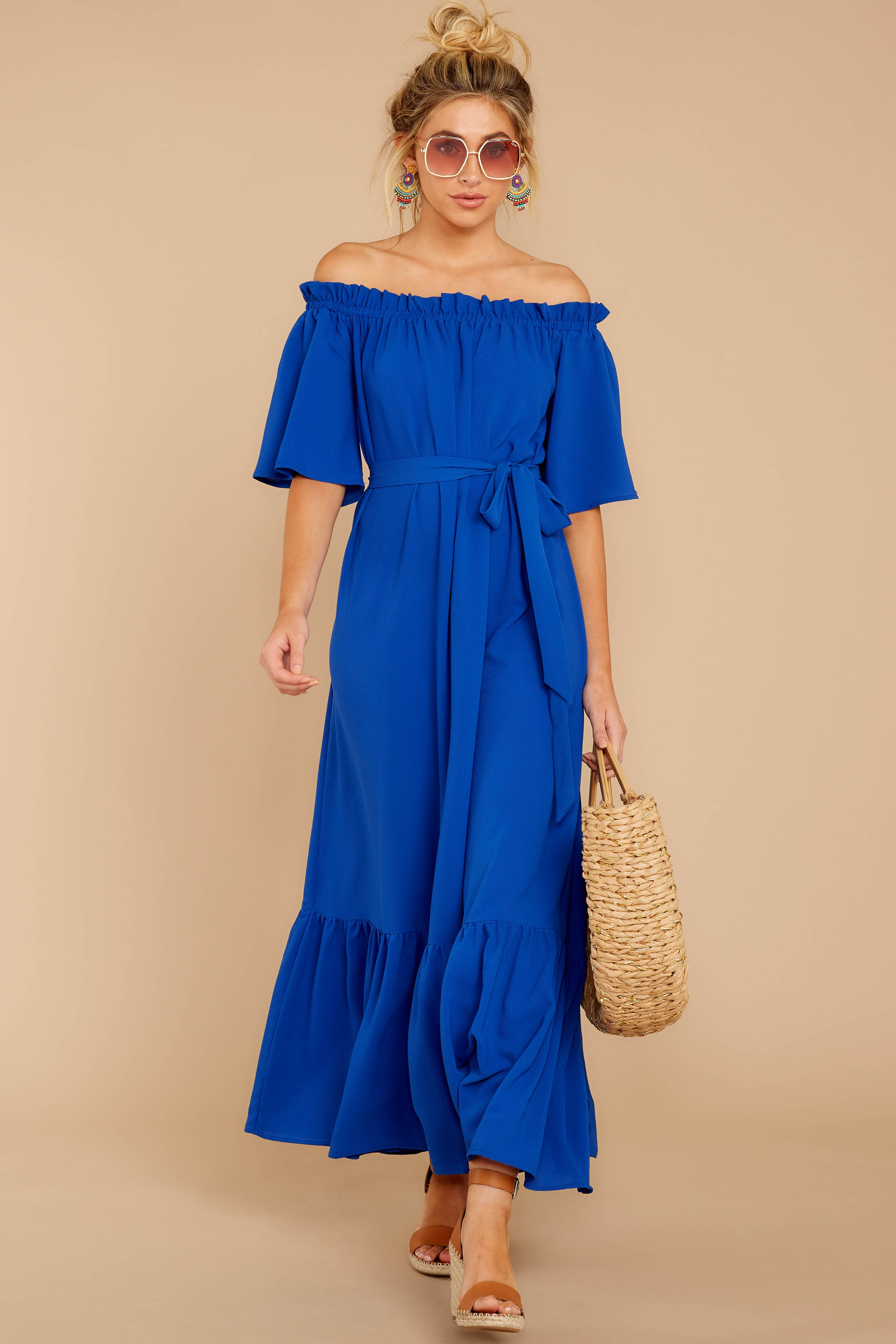 3 And Tonight Royal Blue Maxi Dress at reddressboutique.com