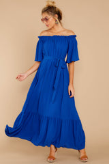 4 And Tonight Royal Blue Maxi Dress at reddressboutique.com