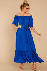 5 And Tonight Royal Blue Maxi Dress at reddressboutique.com