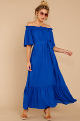 6 And Tonight Royal Blue Maxi Dress at reddressboutique.com