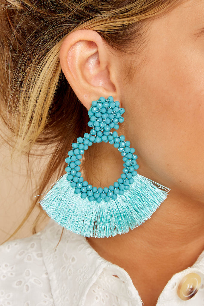1 Another Kind Of Love Dark Turquoise Earrings at reddressboutique.com