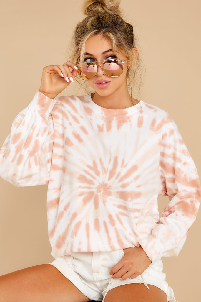 1 Let's Be Real Daybreak Tie Dye Crop Pullover at reddress.com