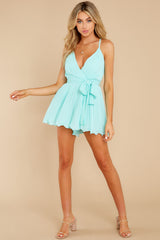 2 Everywhere You Look Aqua Romper at reddress.com