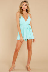 3 Everywhere You Look Aqua Romper at reddress.com