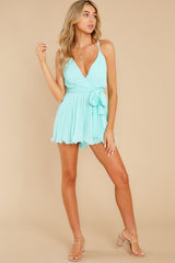 4 Everywhere You Look Aqua Romper at reddress.com