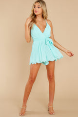 5 Everywhere You Look Aqua Romper at reddress.com