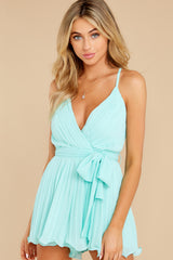 6 Everywhere You Look Aqua Romper at reddress.com