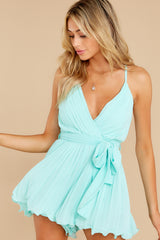 8 Everywhere You Look Aqua Romper at reddress.com