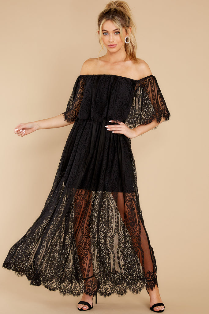 1 Learn To Love Black Lace Dress at reddress.com