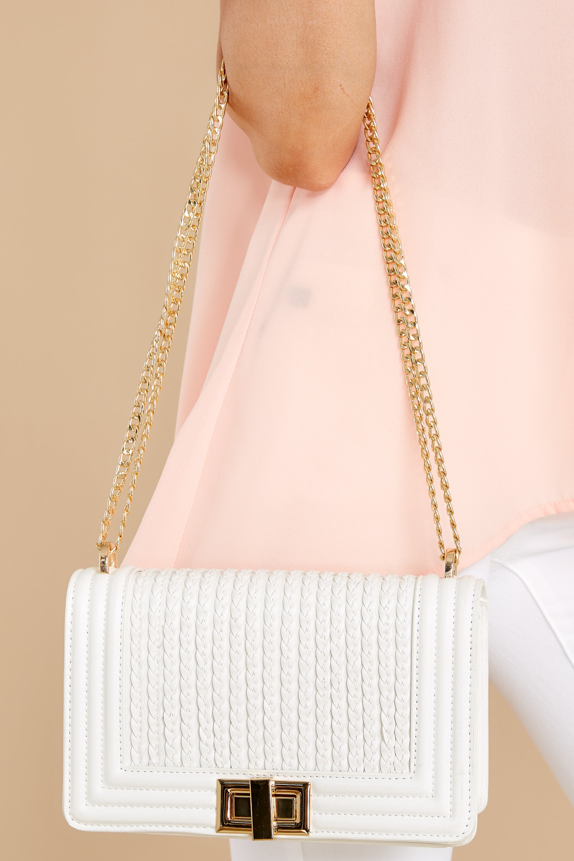 3 Hidden Treasure White Bag at reddress.com