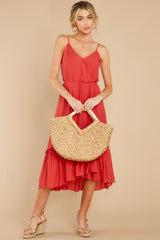 3 Another Round Coral Red Maxi Dress at reddress.com