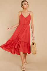 5 Another Round Coral Red Maxi Dress at reddress.com