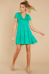 2 End Of The Night Jade Green Dress at reddress.com
