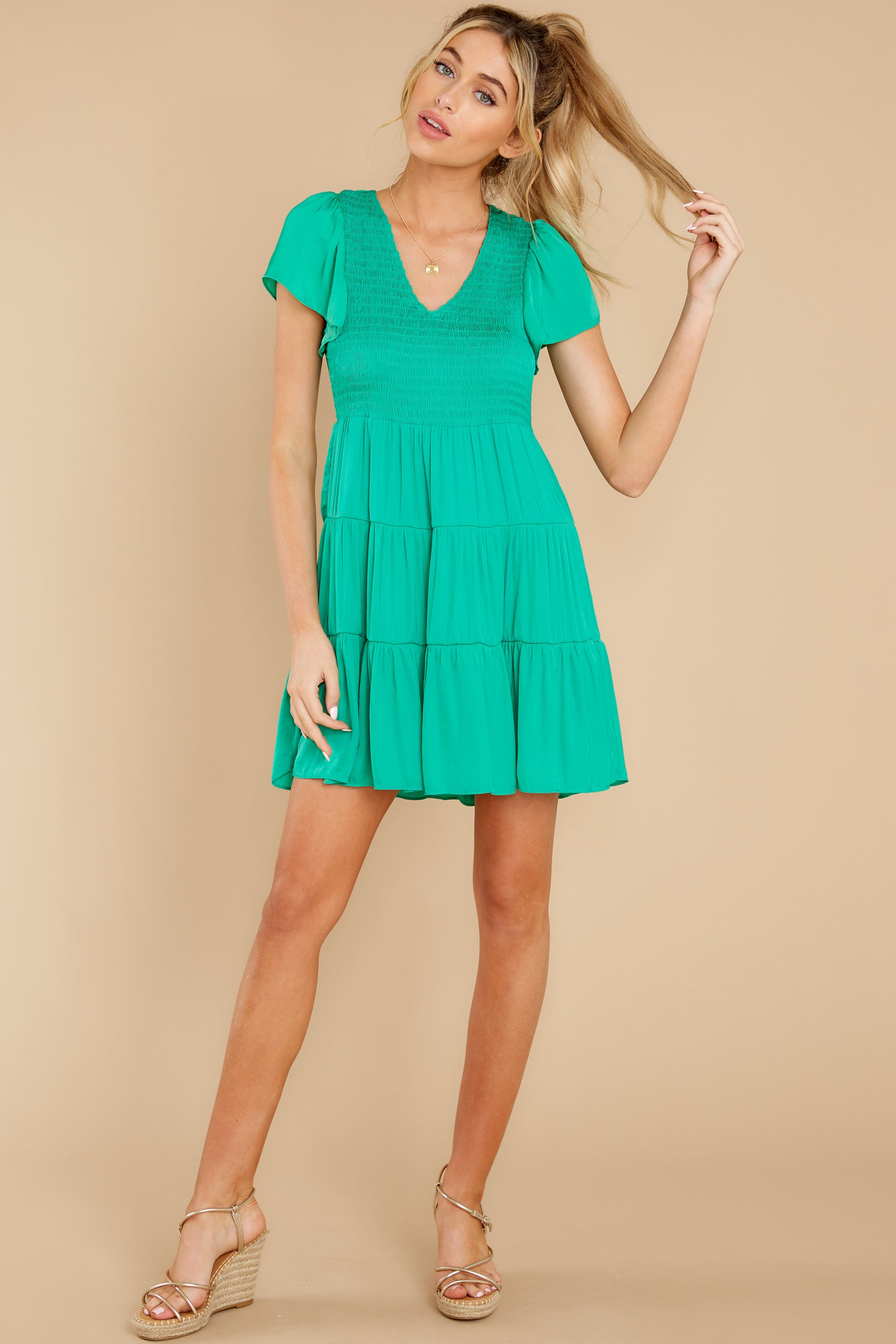 4 End Of The Night Jade Green Dress at reddress.com