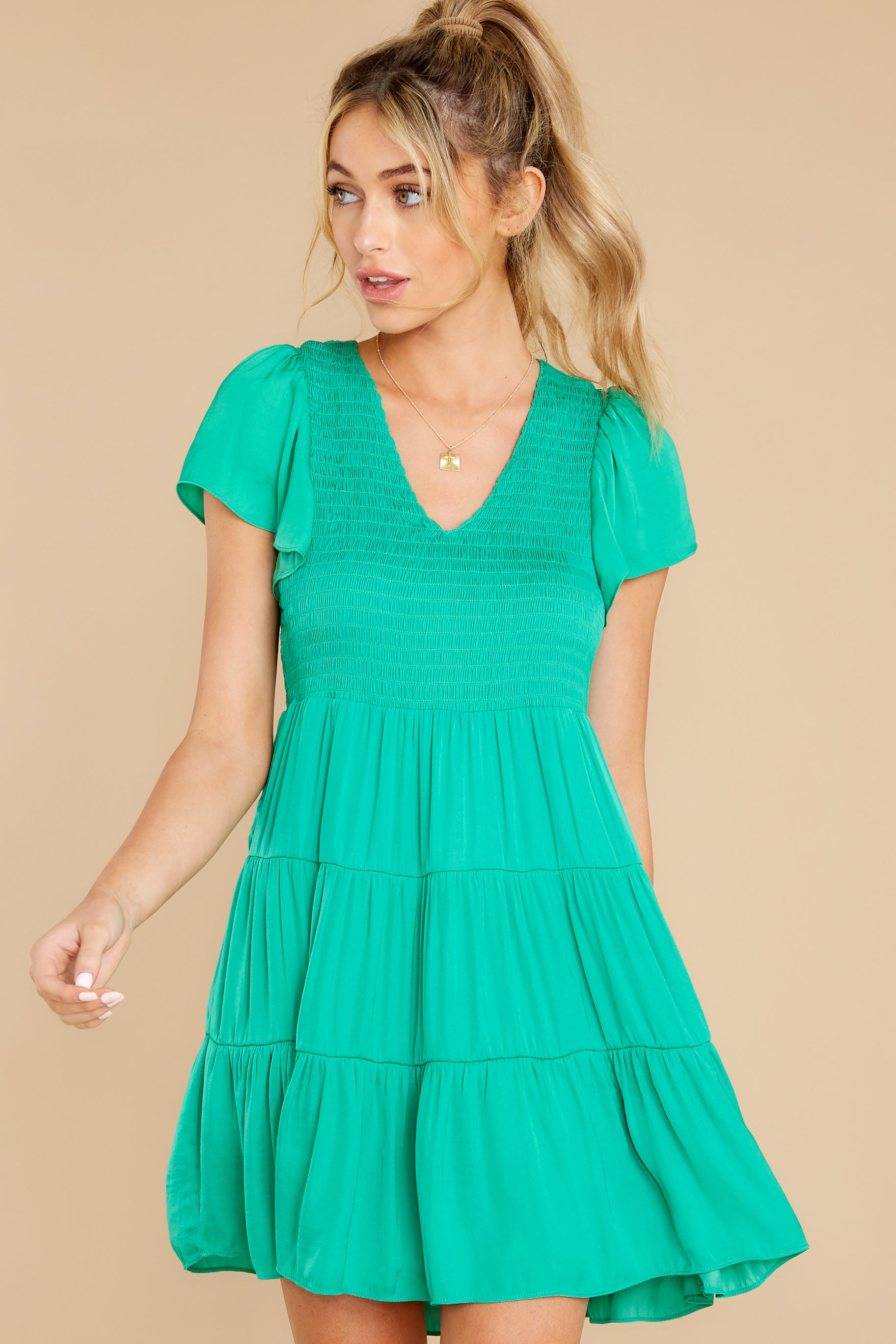 6 End Of The Night Jade Green Dress at reddress.com