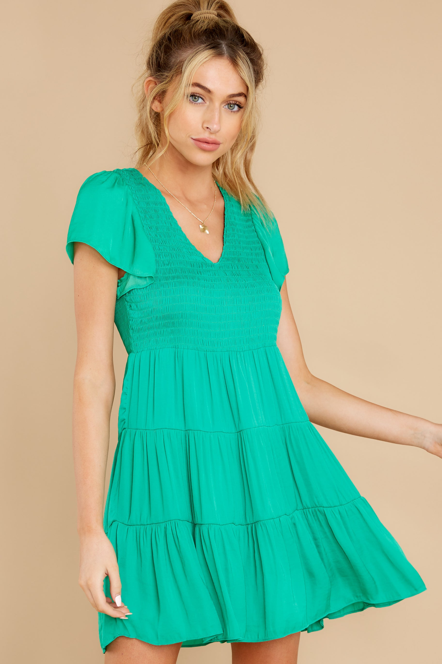 7 End Of The Night Jade Green Dress at reddress.com