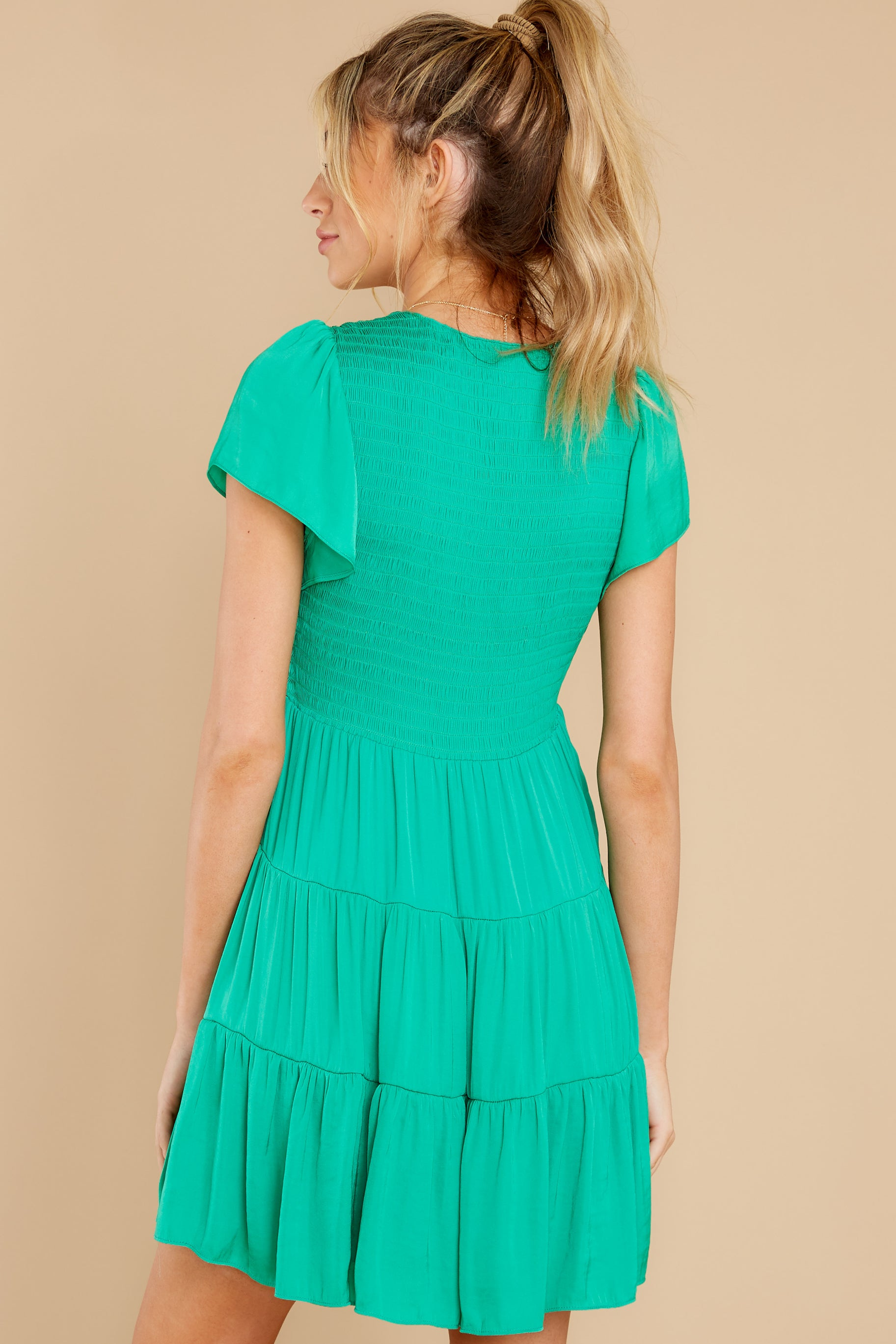 8 End Of The Night Jade Green Dress at reddress.com