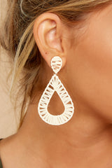 1 Don't Drop Me Ivory Earrings at reddress.com