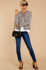 2 Aligned With Style Black Multi Tweed Jacket at reddressboutique.com
