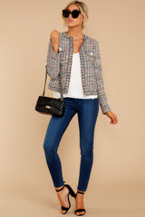 3 Aligned With Style Black Multi Tweed Jacket at reddressboutique.com