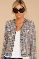 4 Aligned With Style Black Multi Tweed Jacket at reddressboutique.com