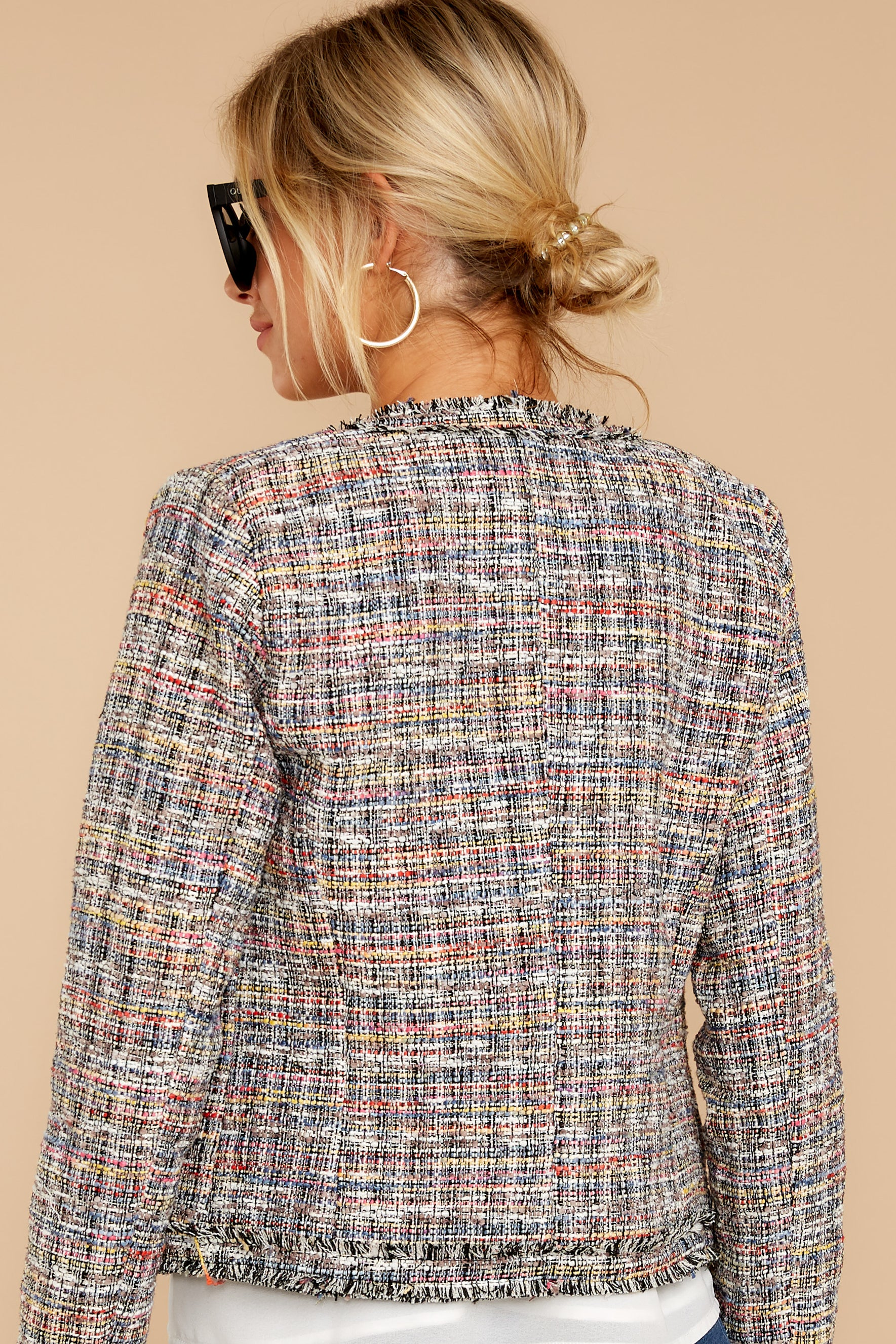 7 Aligned With Style Black Multi Tweed Jacket at reddressboutique.com