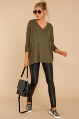 2 What You Had To Do Olive Top at reddressboutique.com