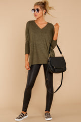 1 What You Had To Do Olive Top at reddressboutique.com