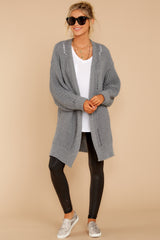 2 Comfort Basis Grey Cardigan at reddressboutique.com