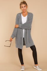 3 Comfort Basis Grey Cardigan at reddressboutique.com