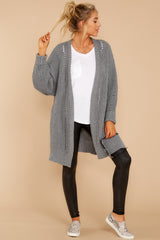 4 Comfort Basis Grey Cardigan at reddressboutique.com