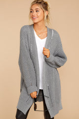 1 Comfort Basis Grey Cardigan at reddressboutique.com