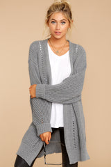 5 Comfort Basis Grey Cardigan at reddressboutique.com