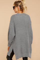 7 Comfort Basis Grey Cardigan at reddressboutique.com