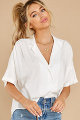 5 Love On You White Top at reddress.com