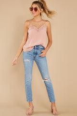 4 Lover Lane Blush Pink Eyelet Tank Top at reddress.com