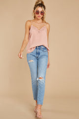 3 Lover Lane Blush Pink Eyelet Tank Top at reddress.com