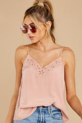 5 Lover Lane Blush Pink Eyelet Tank Top at reddress.com