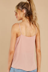 7 Lover Lane Blush Pink Eyelet Tank Top at reddress.com