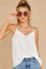 5 Lover Lane White Eyelet Tank Top at reddress.com