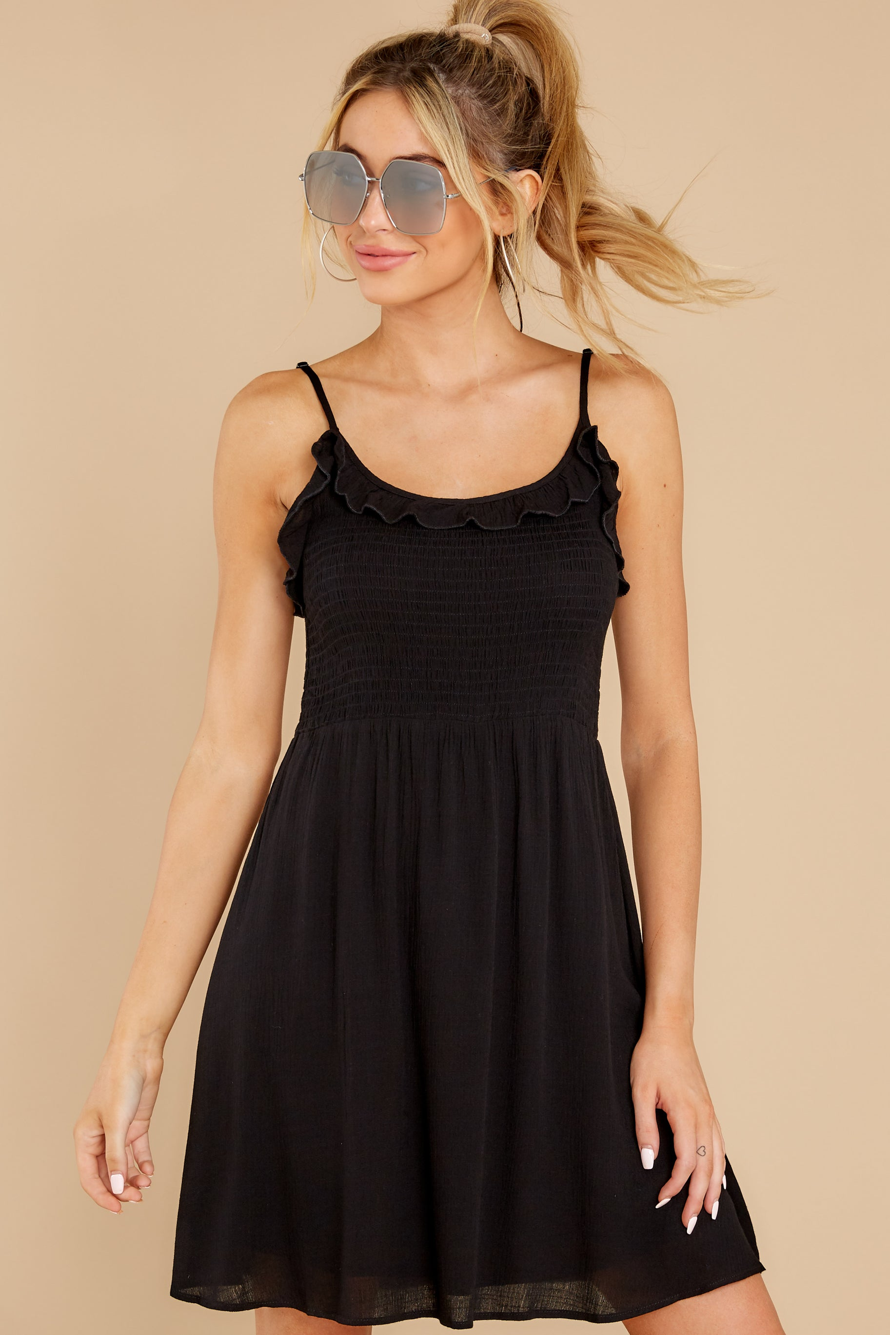 7 As You Are Black Dress at reddress.com