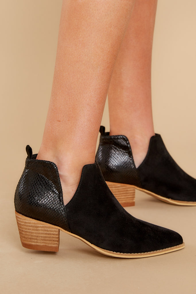 4 From The Valley Black Ankle Booties at reddressboutique.com
