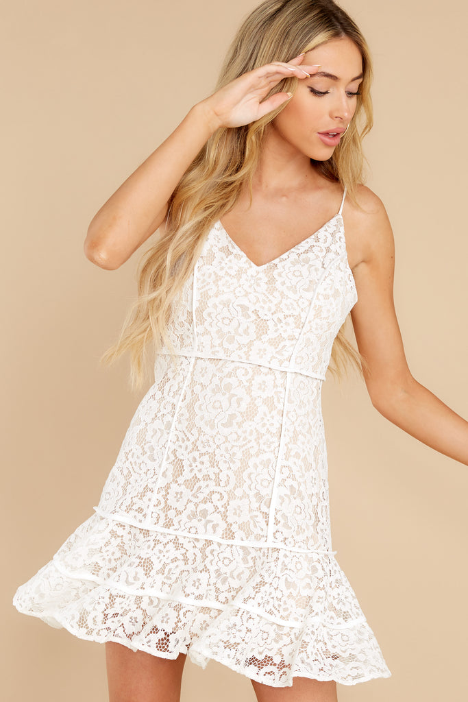 1 Love That I Gave You White Lace Dress at reddress.com
