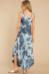 8 Easily Swayed Blue Tie Dye Maxi Dress at reddress.com