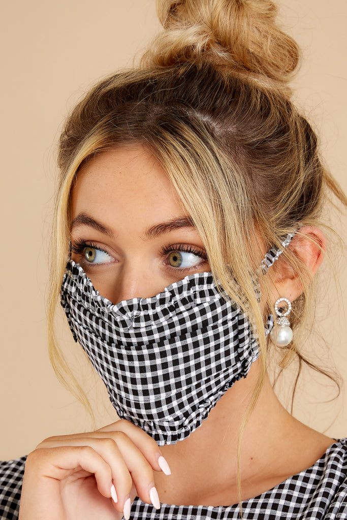 Floral Distancing Navy Floral Print Face Mask