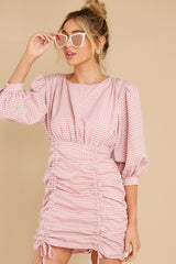 4 Picnic At Noon Blush Pink Gingham Dress at reddress.com
