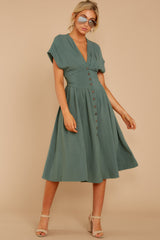 2 Well Balanced Jade Green Dress at reddressboutique.com